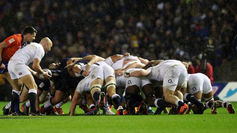 England's forwards were able to turn the screw at the scrum