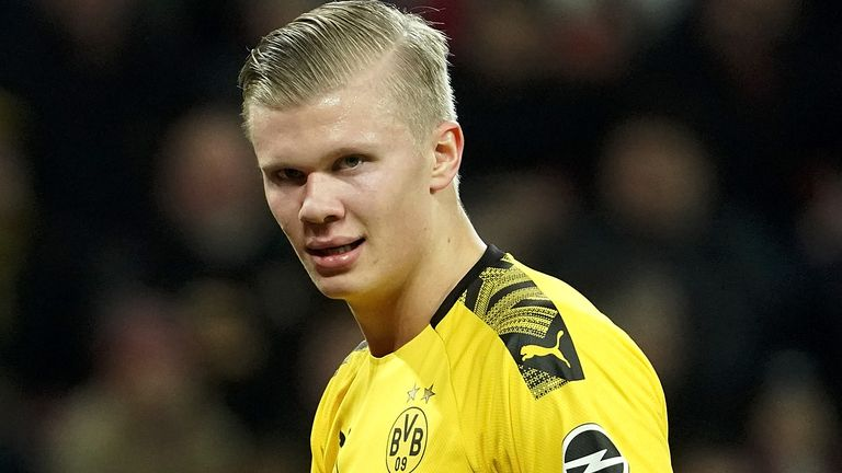 Erling Haaland joined Borussia Dortmund from RB Salzburg in January