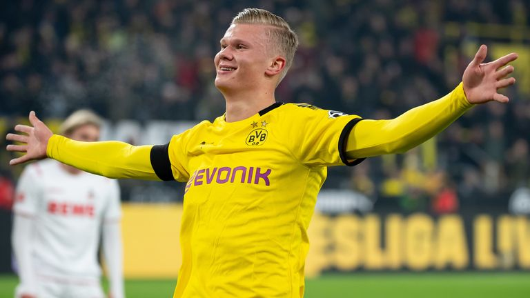Haaland has eight goals in just five games for Dortmund