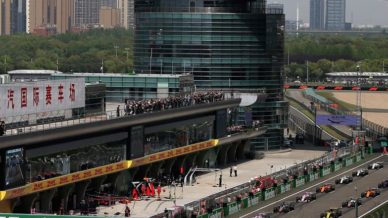 The Chinese Grand Prix is held at the Shanghai International Circuit