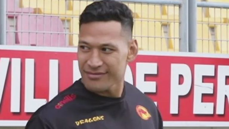 Israel Folau has joined Catalans Dragons for the season