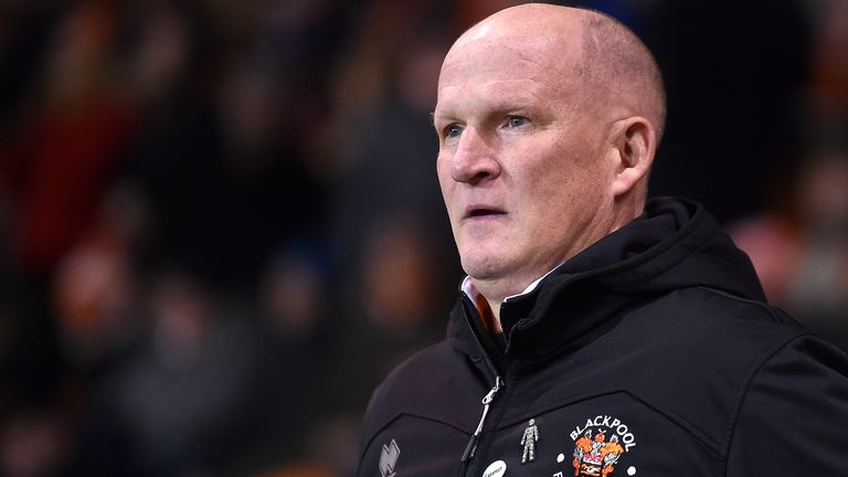 Simon Grayson was sacked by Blackpool in February