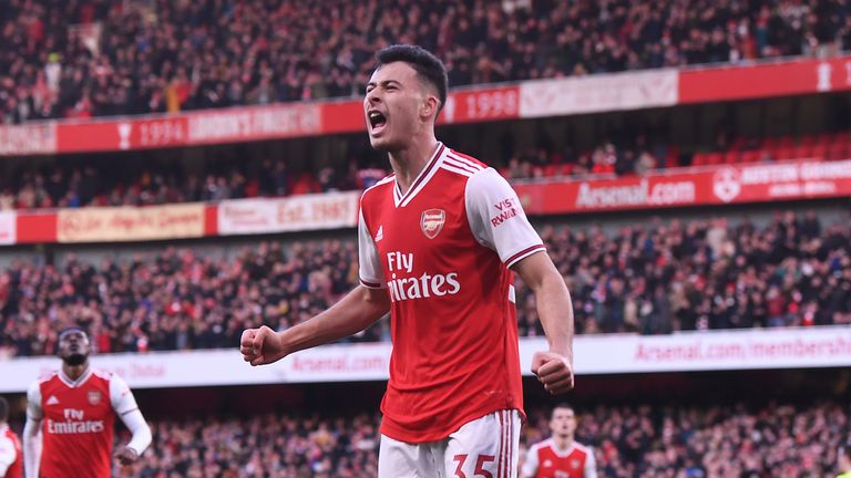 Gabriel Martinelli has scored 10 goals in 26 appearances for Arsenal