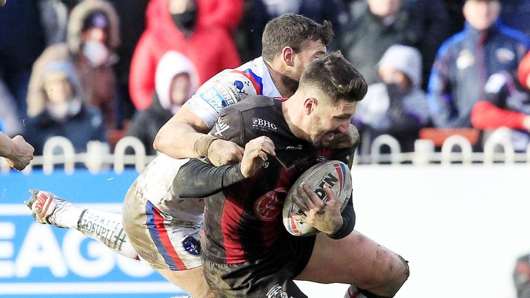 Gareth Widdop made his Super League debut for Warrington at Wakefield