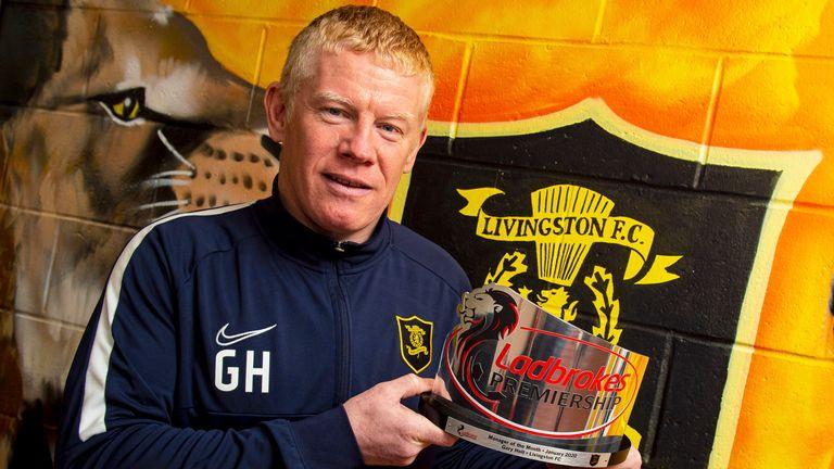 Holt won January's Scottish Premiership Manager of the Month award