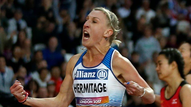 Hermitage enjoyed success at the 2017 World Para Athletics Championships at London Stadium