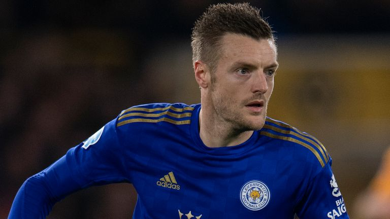 Jamie Vardy has not scored for Leicester City since December 21