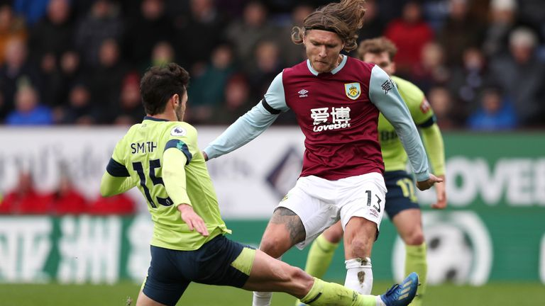 Burnley midfielder Jeff Hendrick is out of contract in the summer