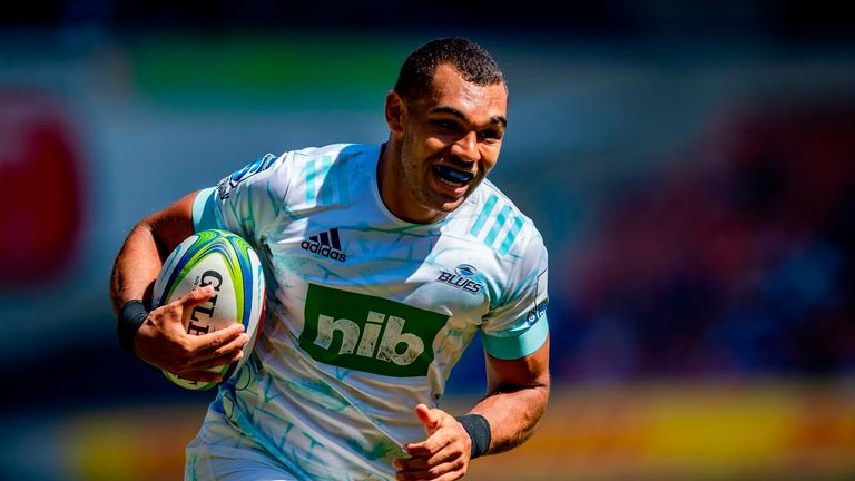 Joe Marchant has been in Auckland, playing Super Rugby for the Blues