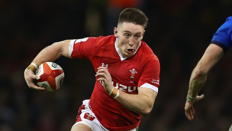 Josh Adams was forced off with injury in the first-half of Wales' defeat at Ireland