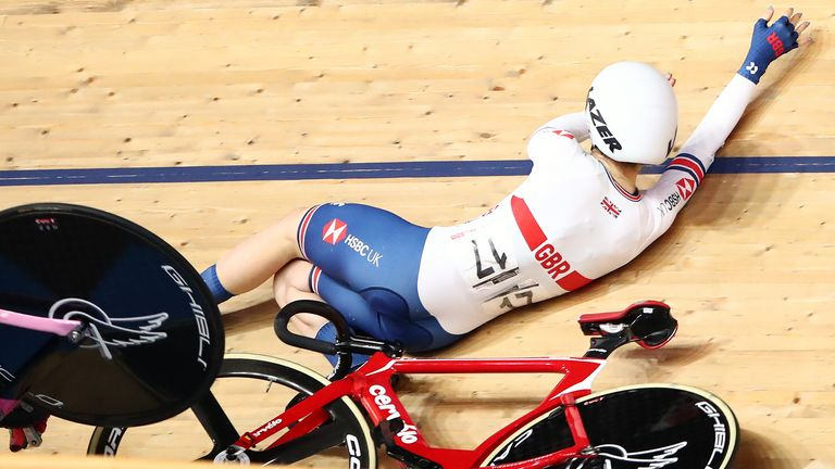 The incident happened during day three at the Track Cycling World Championships