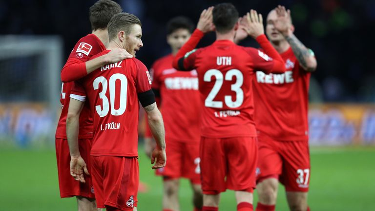 Florian Kainz had a hand in two goals as Cologne thrashed Hertha Berlin