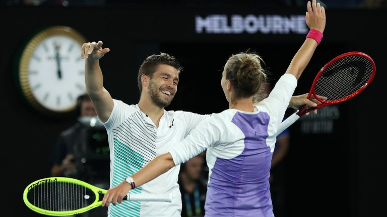 Barbora Krejcikova (right) successfully defended her mixed doubles crown while Nikola Mektic won a first Grand Slam trophy