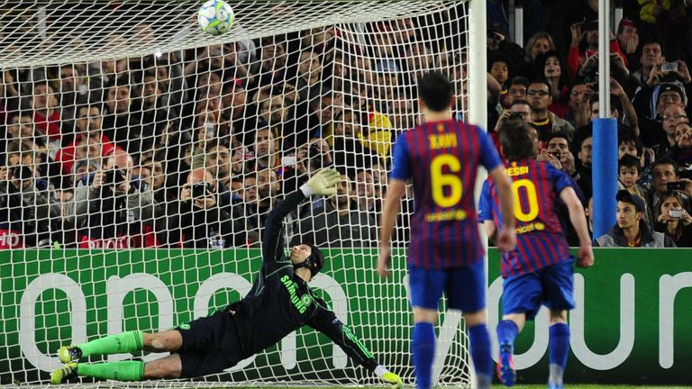 Lionel Messi missed a penalty in the 2012 Champions League semi-final