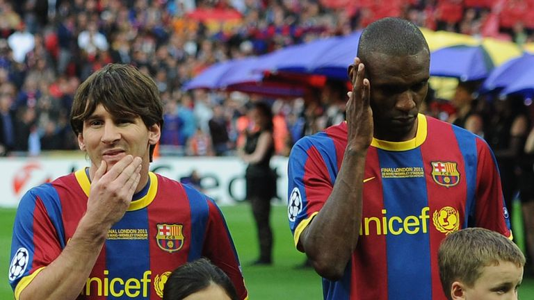 Messi and Abidal are former team-mates, both starting Barcelona's victorious Champions League final at Wembley in 2011