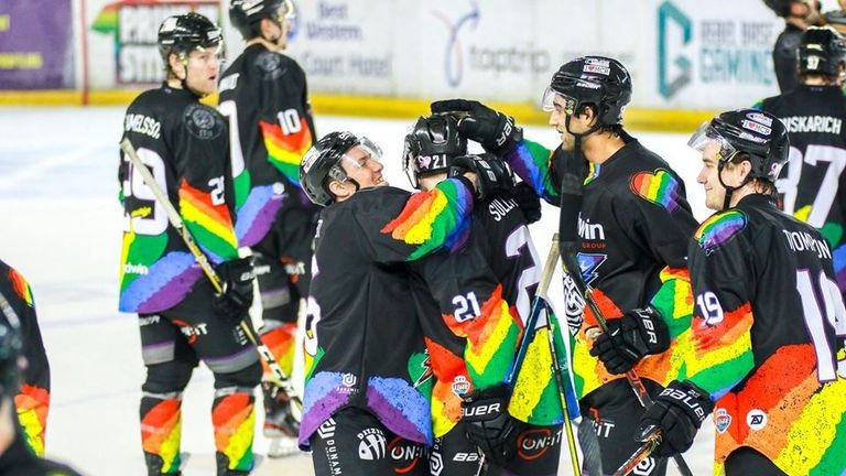 Zach Sullivan has been embraced by his Manchester Storm players since coming out publicly as bi last month (picture: All Sports Photography)
