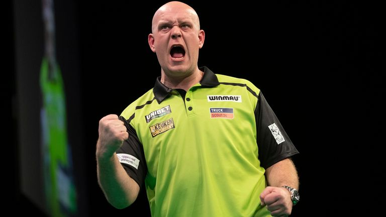 Michael van Gerwen avenged his World Championship final defeat to Peter Wright