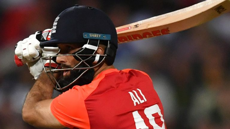Moeen Ali smashed four sixes in his 11-ball 39