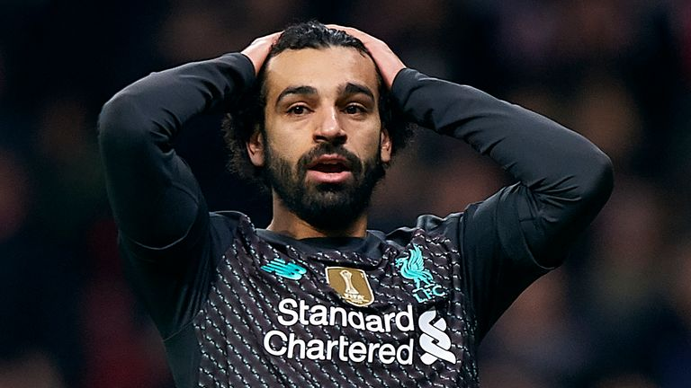 Mohamed Salah had a difficult night during Liverpool's defeat to Atletico Madrid