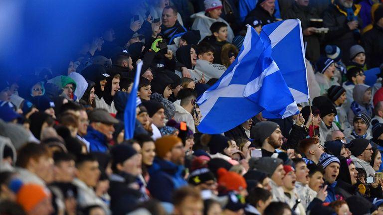 Scotland fans at Murrayfield