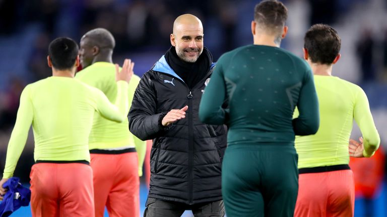 Pep Guardiola says nobody should question his Manchester City players' attitude