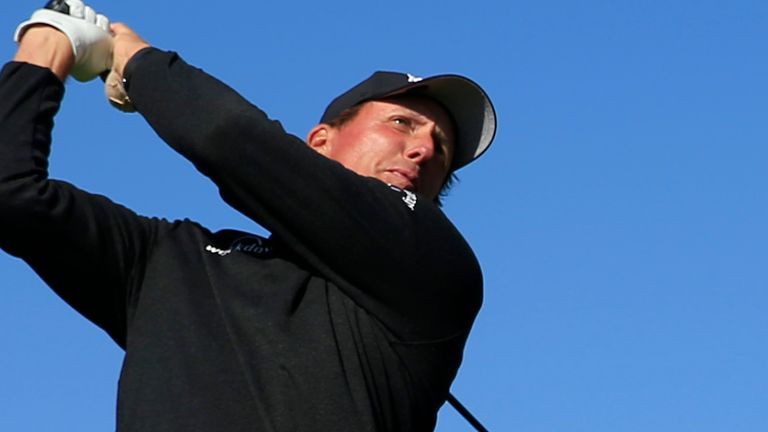 Mickelson started strongly before mistakes at eight and nine derailed his challenge