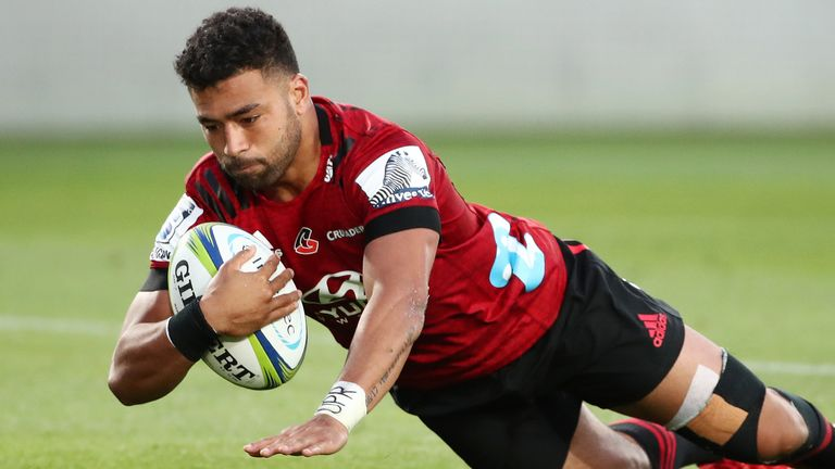 Richie Mo'unga was among the try scorers as the Crusaders returned to winning ways
