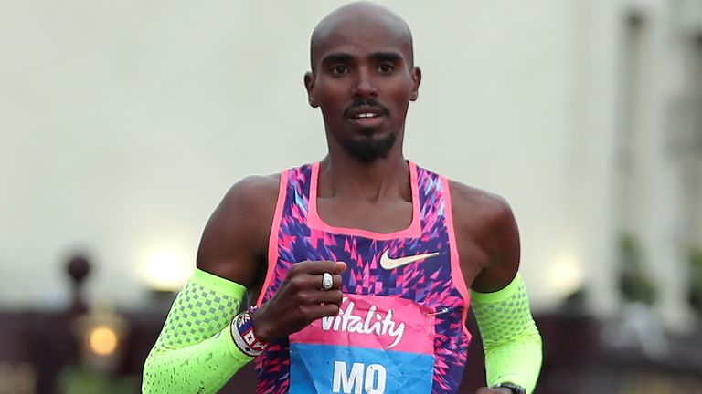 Mo Farah is set to defend his 10,000-metre title at next year's Games in Tokyo