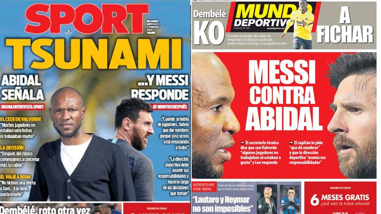 'Tsunami' and 'Messi against Abidal'