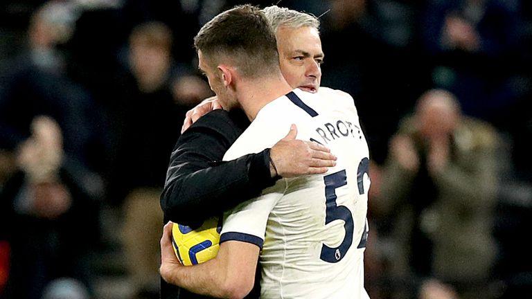Jose Mourinho played Parrott during Tottenham's 5-0 win over Burnley
