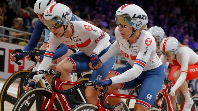 Elinor Barker and Neah Evans finished outside of the medal places in the madison after being involved in a crash