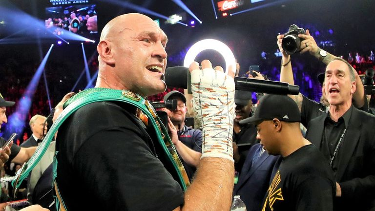 Tyson Fury defeated Deontay Wilder in their Las Vegas rematch