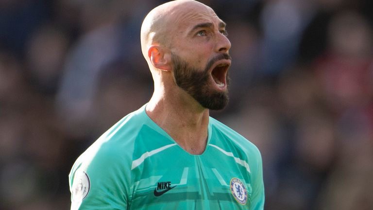 Willy Caballero is set to play in goal for Chelsea