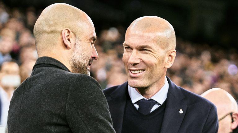 Pep Guardiola got the better of Zinedine Zidane