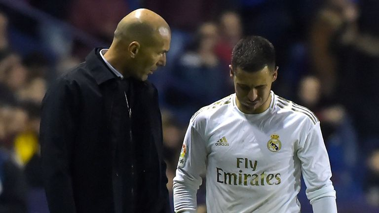 Hazard broke his ankle against Levante in February