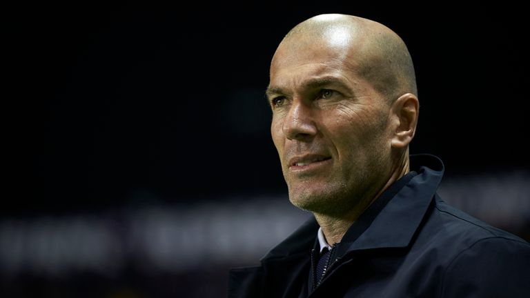 Real Madrid coach Zinedine Zidane had to field questions about his future, despite winning La Liga this season