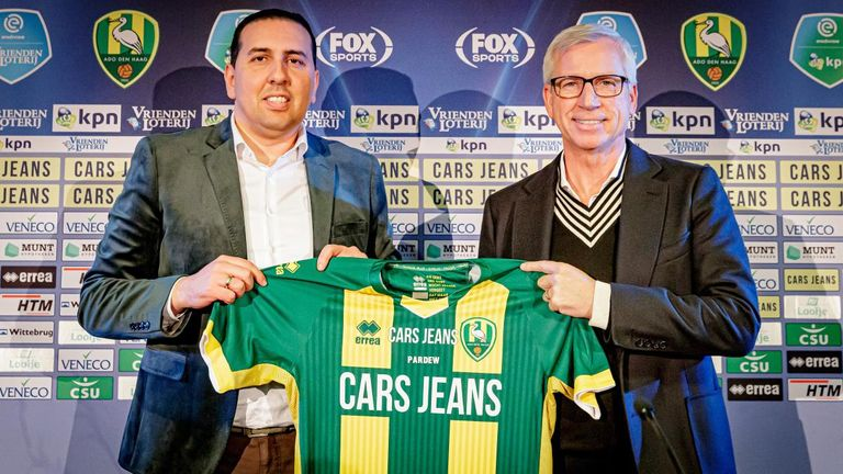 Mohammed Hamdi (left) told Sky Sports News he hopes the partnership will benefit ADO Den Haag manager Alan Pardew (Picture courtesy of ADO Den Haag)