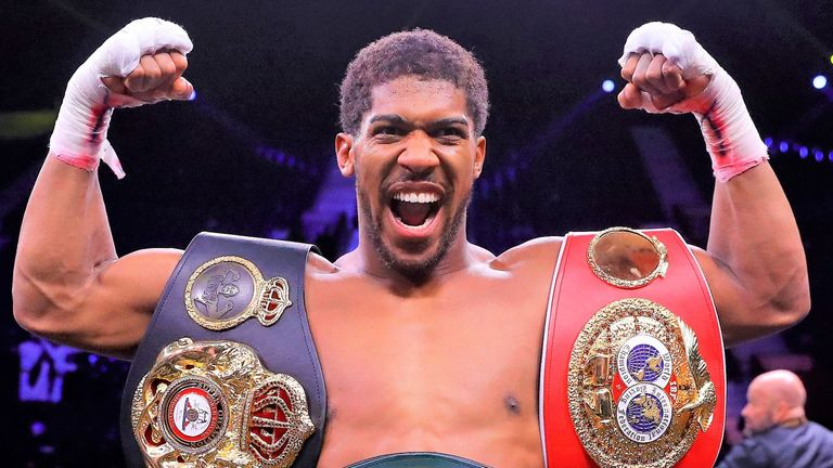 Joshua holds the WBA, IBF and WBO belts