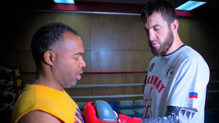 The Russian is working towards a world title at Steward's gym in Detroit