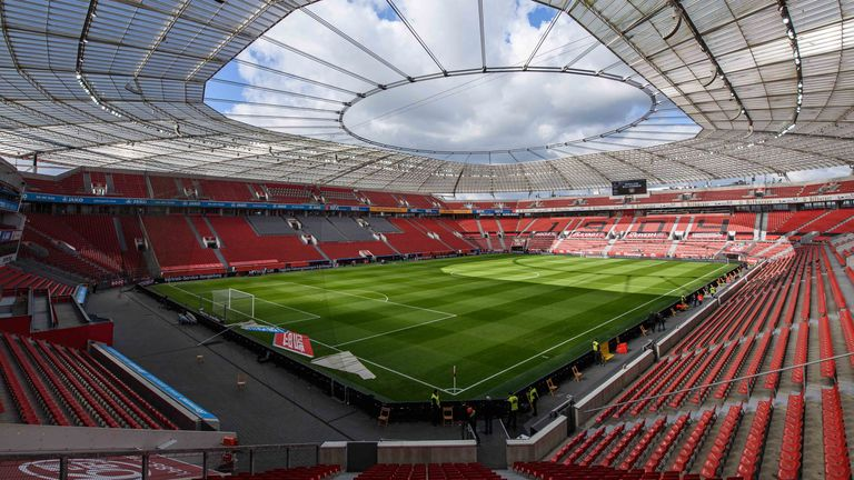 The 30,210-capacity BayArena is situated in the North-Rhine Westphalia region of Germany which is heavily affected by the virus