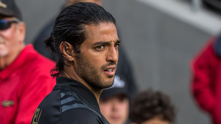 Carlos Vela of Los Angeles FC during their MLS match against Inter Miami
