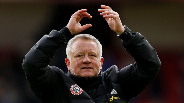 Chris Wilder has led Sheffield United from League One to contenders for Europe