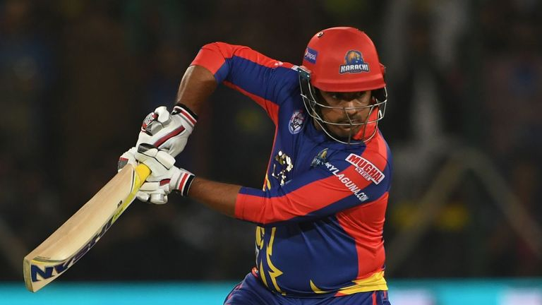 Karachi Kings' Sharjeel Khan hit 37 from just 14 balls as his side qualified for the semi-finals