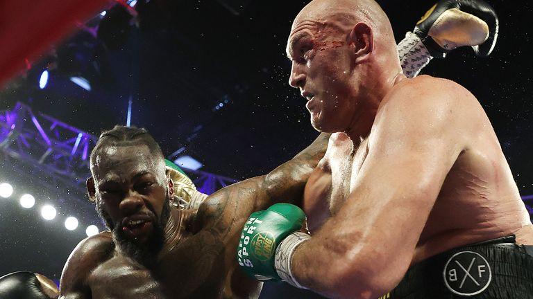 Deontay Wilder has twice been struck down by Tyson fury