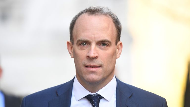 Foreign Secretary Dominic Raab has made a deliberate public statement saying how good  it would be to have sport back