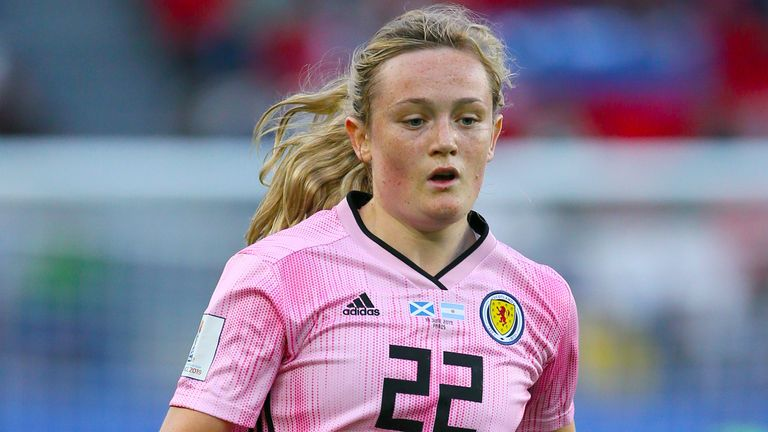 Erin Cuthbert scored one of Scotland's goals in the win against Northern Ireland
