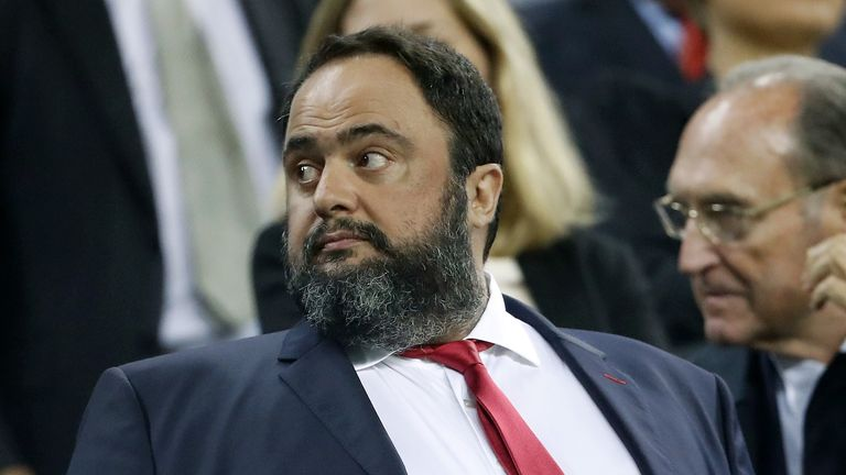 Olympiakos and Nottingham Forest owner Evangelos Marinakis  contracted the virus