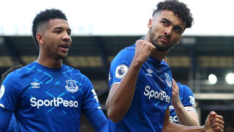 Dominic Calvert-Lewin took advantage of a failed clearance to put Everton ahead