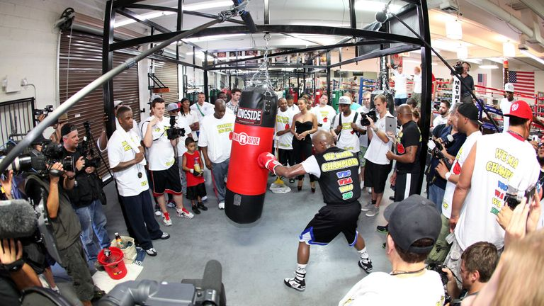 Floyd Mayweather's gym is notoriously hostile to outsiders