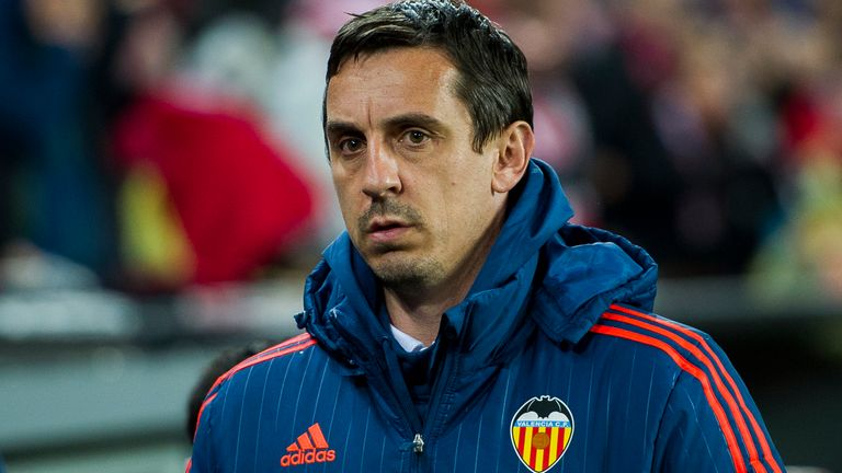 Neville was sacked four months into his role with Valencia